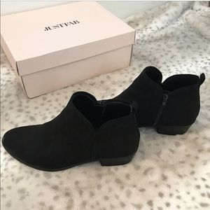Just Fab Black Ankle Booties